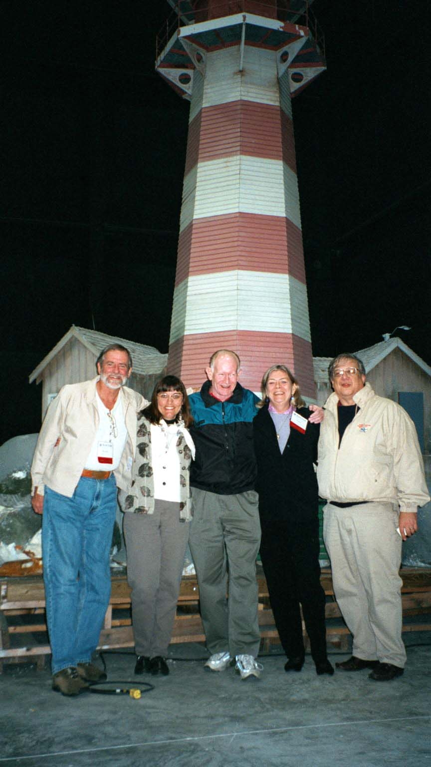 Ralph Eshelman, Candace Clifford, Jim Woodward, Anne Webster Wallace and Mike Vogel at 2001 Maritime Heritage Conference.