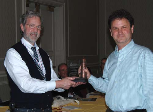 Jeff Gales received Holland Award on behalf of the United States Lighthouse Society