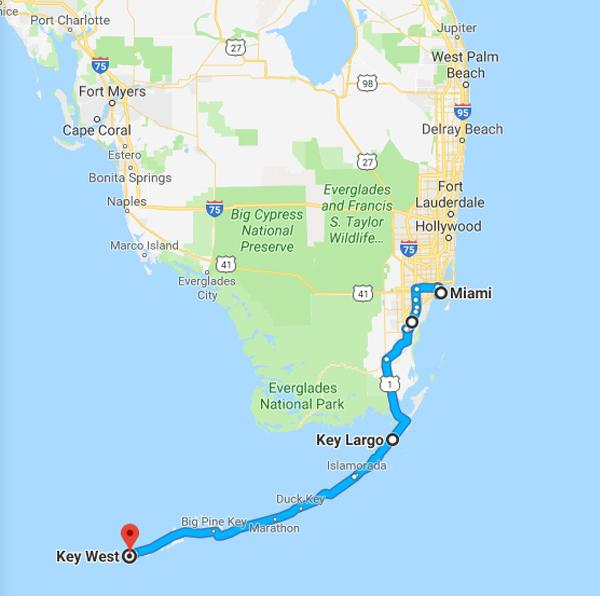 Map Of Florida And Florida Keys.Florida Keys Us Lighthouse Society