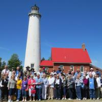 Eastern Michigan Group Photo at Tawas Point Lighthouse