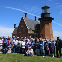 Group at Block Island SE Lighthouse