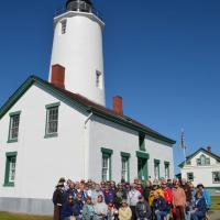 "2016 Puget Sound ""Plus"" Tour Group Photo taken at New Dungeness Light Station courtesy of Jean Reed"