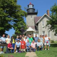 Lake Ontario Circle Tour Group Photo – 30 Mile Point Lighthouse