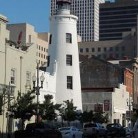 Faux Lighthouse in New Orleans Wharehouse Lighthouse