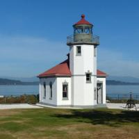 Alki Point Lighthouse, the westernmost point in the West Seattle district of Seattle
