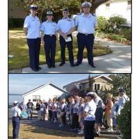 Our hosts at Alki Point Lighthouse included Jessica Campbell (Active Duty USCG); Debra Alderman, Michael Sealfon and John Theiler (USCG Auxiliary, Flotilla 24, Seattle)