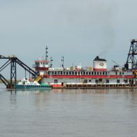 Dredging the Mississippi River