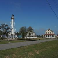 The Cape St Blas Lighthouse Station after being moved to Cape St. Joe