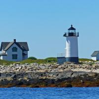 On the way to Thacher Island we got good views of the Straitsmouth Lighthouse which is also now under the stewardship of the Thacher Island Association