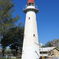 Bulwer Island Lighthouse which operated from 1912-1983 now sits on the grounds of the Queensland Maritime Museum in Brisbane.