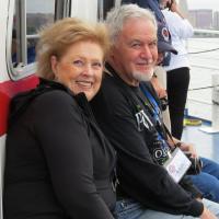 Claire and Karl enjoying the Buffalo Harbor