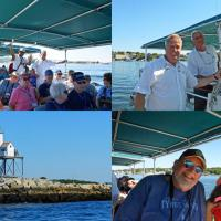 Problems with accessing the lighthouses in Gloucester were solved by chartering a boat, with a friend for Skip, that took us through the harbor and out to the Dog Bar Breakwater light
