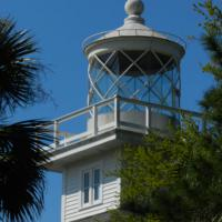 The newly rebuilt replica lantern room on top of the St. Joseph Rear Range Light