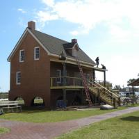 Rebuilt keeper's house at Cape St. George Lighthouse