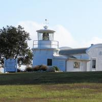 A replica of the 1878 Clarence River Lighthouse built on the original foundations is now used as a community radio station