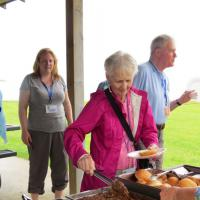 A wonderful BBQ lunch was provided for our tour by Point Aux Barques Lighthouse Society.  Barb sampled each of the entrees and everyone sampled the desserts.