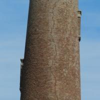 A crack on the Sand Island Lighthouse