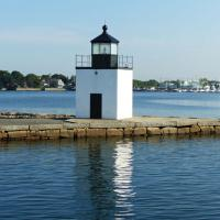 Constructed in 1871 at the end of the wharf, the Derby Wharf Light Station is one of only five square plan lighthouses in Massachusetts.
