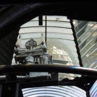 Inside of the 1st order Fresnel lens at Pensacola