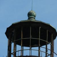 Closer view of the Sand Island Lighthouse lantern room