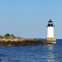We had the opportunity to view the Fort Pickering light from the water on our harbor cruise and again later in the day when we stopped at Winter Island on our way to dinner.