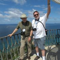 Bill & Skip enjoy the climb and the view atop Smoky Cape Lighthouse.
