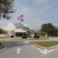 The entrance to the National Naval Aviation Museum across the street from Pensacola Lighthouse