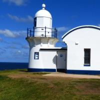 Tacking Point Lighthouse, another small tower along NSW's northern coast.