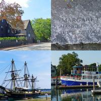 Our free afternoon in Salem gave us a chance to visit the House of the Seven Gables, the witch's memorial cemetery and the Salem Friendship ship.  Our boat charter from the Mahi-Mahi Harbor Cruises was roomy and provide a great venue for our on board breakfast.