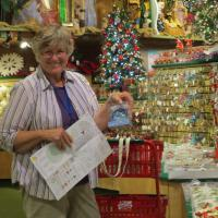 Bronner's Christmas Store is the largest Christmas store in the U.S.  After dinner many of us went to the store and looked for Christmas treasures.  Carole found her perfect gift.
