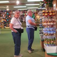 Dorothy & Jewell Ann spent time looking for  their Christmas gifts among the several thousand possibilities