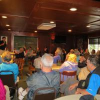 Unfortunately our tour out to Charity Island was cancelled due to bad weather, but Mike Wiltse, who lives in the lighthouse, gave us a wonderful presentation about the light.  Mike and his wife, Karen, have renovated the lighthouse over the past 10 years and offer tours as well as lunch and dinner.