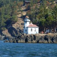 On the west side of San Juan Island sits Lime Kiln Lighthouse which is also the site of a research station for marine mammal scientists