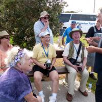 Norah Head Trustee Gary Dean shares a laugh with Clorinda, Wanda, Marge, Skip and Ken.