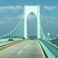 Crusing on the Jamestown Verrazzano Bridge
