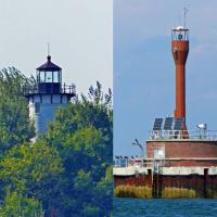 On the way to Little Brewster Island we passed the Long Island Head and Deer Island Lighthouses.