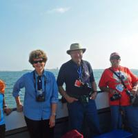 Don, Judy, Bill and Wanda pose aboard Miss Peddocks Island a vessel that was recruited after our initial charter boat developed mechanical problems.