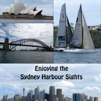 The Sydney Skyline, Opera House, Harbour Bridge which Jerry, Marjie, Cassandra and Ann climbed, and America's Cup Yachts were some of the memorable sights in the harbour.