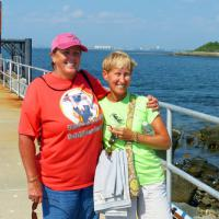 Wanda and Jill posed before we left the island to return to Boston.