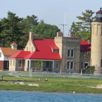 We were fortunate to visit Old Mackinac Point Lighthouse on shore as well as to view it from the water side on our Shepler' cruise into the Mackinac Straits.