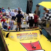 Boarding the Thriller Speed Boat