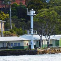 Goat Island is part of the Sydney Harbour National Park where the Goat Island aid to navigation light is located.