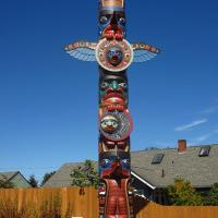 The Legend of Sequim's Sunshine Totem Pole given to the city of Sequim by the Jamestown S'Klallam Tribe for their new civic center
