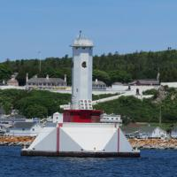 Round Island Passage had a unique feature in that instead of resident keepers, Coast Guard personnel controled the lighthouse remotely via a submarine channel.