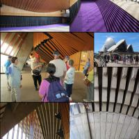 Some of the group took the Sydney Harbour Opera House Tour.  The amazing structure was truly a kaleidoscope of texture, color and design.