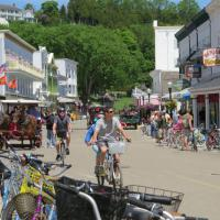 We had the opportunity to spend an afternoon on Mackinac Island.  Bicycles and horse-drawn carts are the only means of transporation on the island.