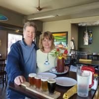 "John and Donna found the most unique lunch in Port Angeles, the ""Shipwreck Bloody Mary!"" With vegetables, fruit, meat and shrimp, it's the ""healthy"" way to go!"