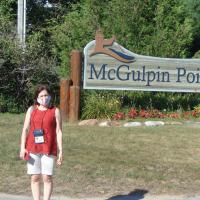 McGulpin Point Lighthouse sign with Judith