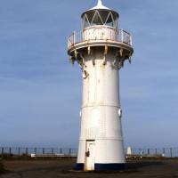 Warden Head Lighthouse in NSW is a wrought iron tower in need of paint!