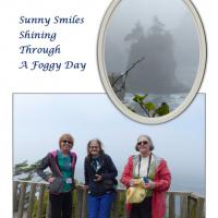 Other than being on Tatoosh Island, Diane, Holly and Amy are standing on the most northwesterly point of the contiguous United States